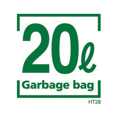 容量表記入りゴミ袋 20L