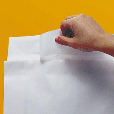 「現場のチカラ」 宅配袋白無地特小(A4) フィルム貼 封緘シール付 1パック(100枚入) スーパーバッグ