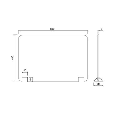 アール・エフ・ヤマカワ 置き型フェルト仕切りパネル グリーン RFFDTP-6040GN 1台