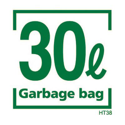 容量表記入り ゴミ収集袋 30L