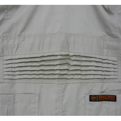 カジメイク T/C長袖股ハギつなぎ服 アイスホワイト S 6609 (取寄品)