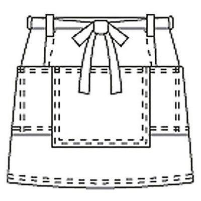サロンエプロン AP492-5 ブラック