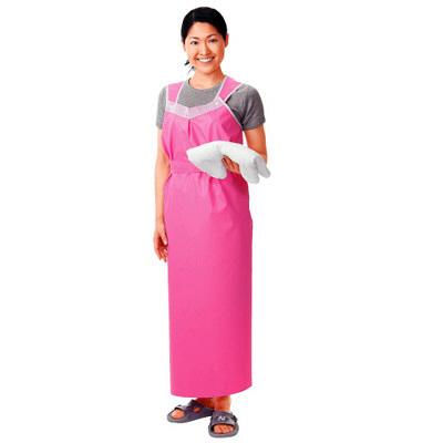 ピジョン 入浴介助エプロン 軽やか介助エプロン ロングタイプ 女性用ピンク 1枚 (取寄品)