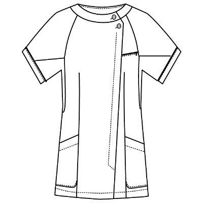 フォーク チュニック ホワイト EL 2012CR-1 EL (直送品)