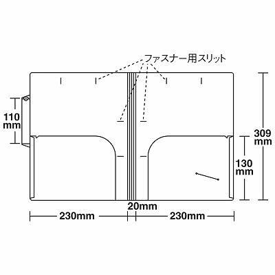 日本ホップス CF-A4V-2W カルテフォルダー A4タテ置き 見開き(スタンダード) 1箱(500枚入) (直送品)