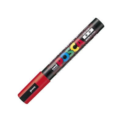 三菱鉛筆 ユニポスカ 中字 赤 PC5M.15 1セット(5本)