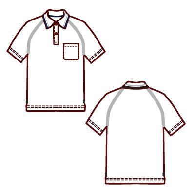 AITOZ(アイトス) 事務服 ユニセックス 制電半袖ポロシャツ サックス M AZ-50005 1着 (直送品)