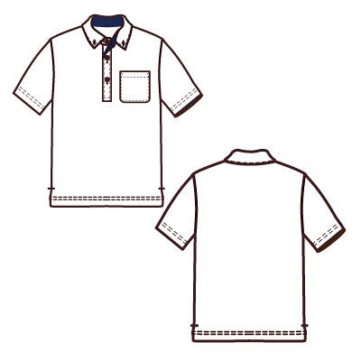 アイトス 制電半袖ポロシャツ(男女兼用) オレンジ L AZ-50006-063-L 1着 (直送品)