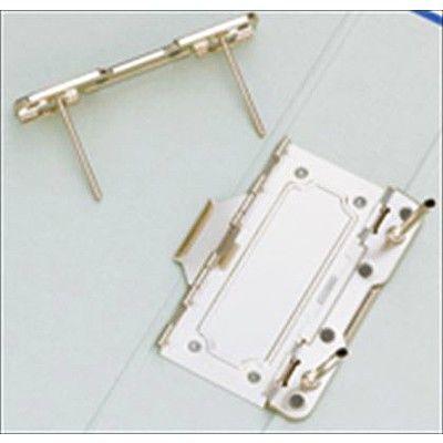 ドッチファイル A4タテ とじ厚50mm グレー 両開きパイプ式ファイル 1075BFクレ 2冊 キングジム (直送品)