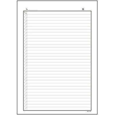 A4自費診療録 1号紙 CCE801 1冊(100枚入) イムラ封筒