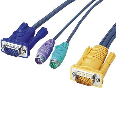エレコム PS/2対応パソコン切替器 D-sub対応 4台切替 KVM-C24 (取寄品)