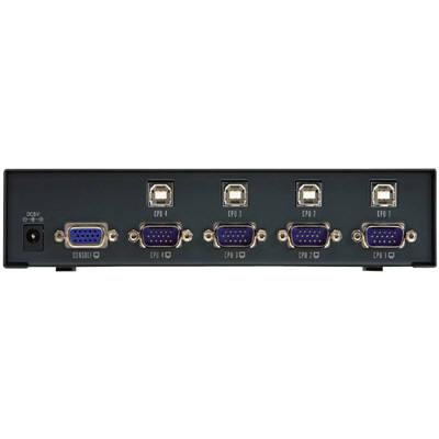 エレコム USB対応パソコン切替器 D-sub対応 4台切替 KVM-NVU4 (取寄品)
