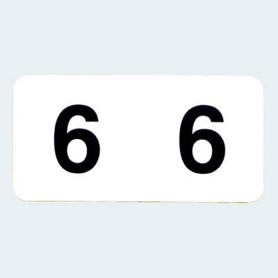 フィリオ ナンバーラベル(モノクロ) 「6」 MS-NR6 1パック(150片入)