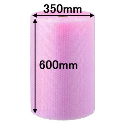 エアークッション非帯電性タイプ 600mm×42m巻 ピンク Pーd37L 川上産業