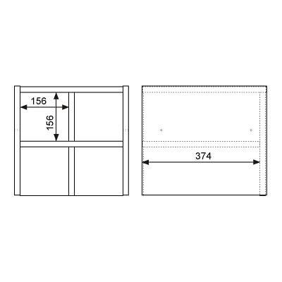 Garage(ガラージ) キューブコンポラック 飾り棚 上置き専用 木目(ナチュラル) 幅366mm 奥行400mm 高さ351mm 1台 (直送品)