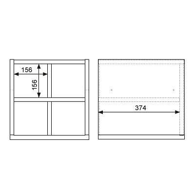 Garage(ガラージ) キューブコンポラック 飾り棚 下置き専用 木目(ナチュラル) 幅366mm 奥行400mm 高さ376mm 1台 (直送品)