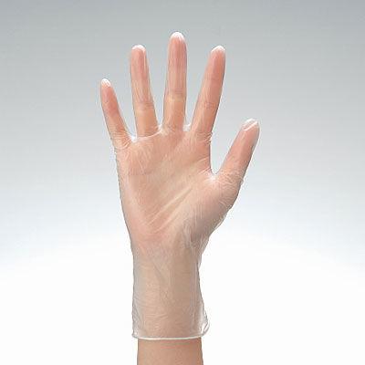 シルキープラスチックグローブパウダーフリー M 226330 1箱(100枚入) 三興化学工業 (使い捨て手袋)