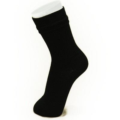 コーポレーションパールスター 二重式あぜ編み靴下 L 黒(24~26cm) 2足組 (取寄品)