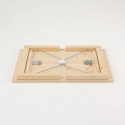 パイン材ローテーブル・折りたたみ式