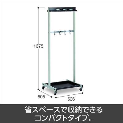 テラモト モップハンガーRC型コンパクト(6本掛) CE-491-340-0 (直送品)