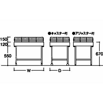 岡村製作所 ステージ兼用平台 奥行900mm 7N03AZ Z5NA (直送品)