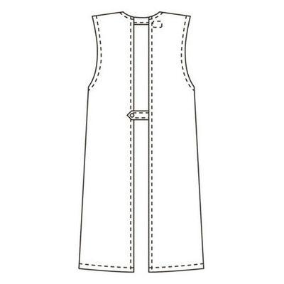 タップ 予防衣 袖なし LL ホワイト AKL924-30-LL