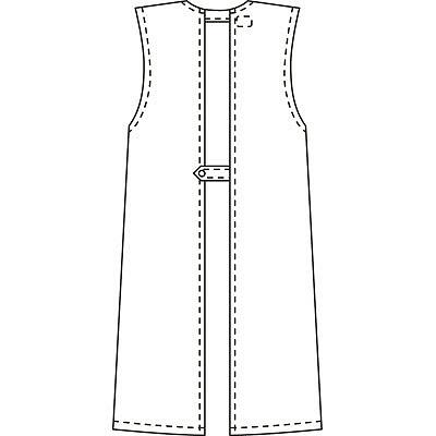 タップ 予防衣 袖なし 3L ホワイト AKL924-30-3L