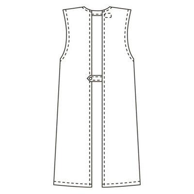 タップ 予防衣 袖なし L サックス AKL924-31-L