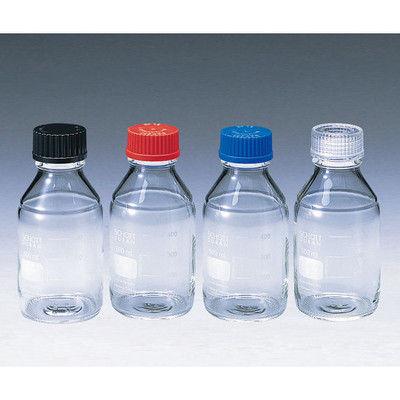柴田科学 ねじ口瓶丸型白(デュラン(R)) 青キャップ付 2000mL 1本 2-077-06 (直送品)