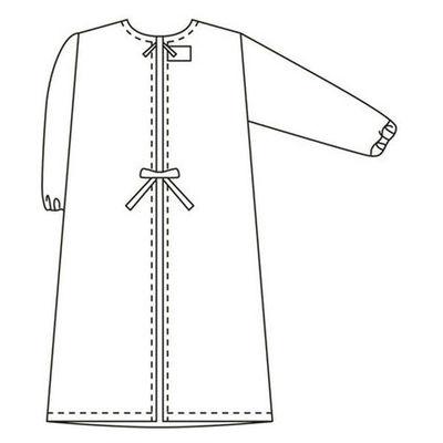 タップ 予防衣 長袖 S ホワイト AKL139-30-S