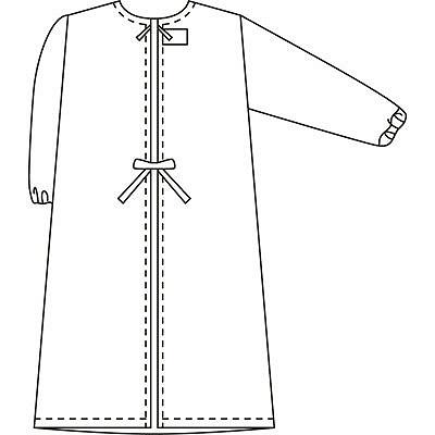 タップ 予防衣 長袖 S サックス AKL139-31-S