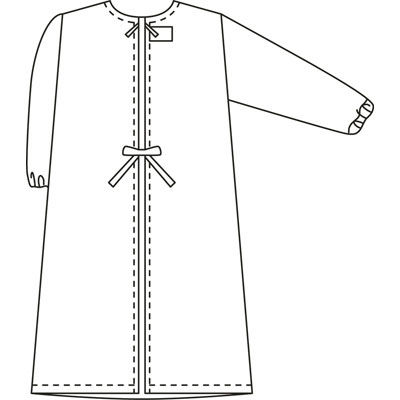 タップ 予防衣 長袖 M ホワイト AKL139-30-M