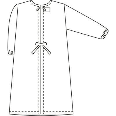タップ 予防衣 長袖 M サックス AKL139-31-M