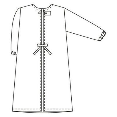 タップ 予防衣 長袖 LL サックス AKL139-31-LL