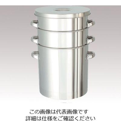 日東金属工業 コンパクト収納 テーパー型フタ付きステンレスタンク 150L 1個 4-5013-10 (直送品)
