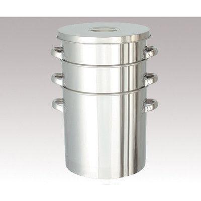 日東金属工業 コンパクト収納 テーパー型フタ付きステンレスタンク 10L 1個 4-5013-01 (直送品)