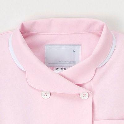 ナースワンピース ピンク L