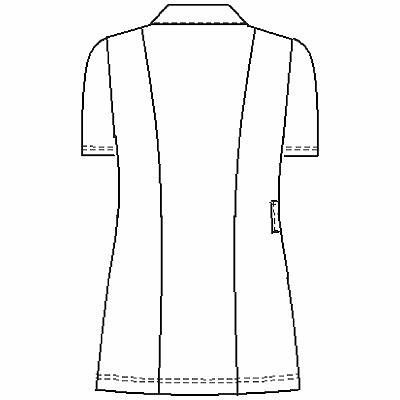 ナガイレーベン レディスジャケット 半袖 ブルー EL HE-1942 (取寄品)
