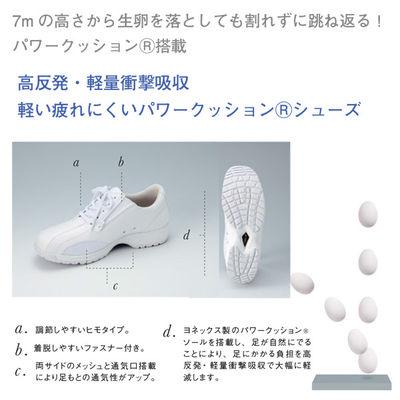 ナガイレーベン ヨネックスシューズ ホワイト 23 YN490 23 1足 (取寄品)