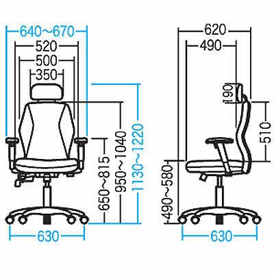 サンワサプライ ヘッドレスト付低反発チェア オフィスチェア 肘付 ブラック SNC-T138BKN2 1脚 (直送品)