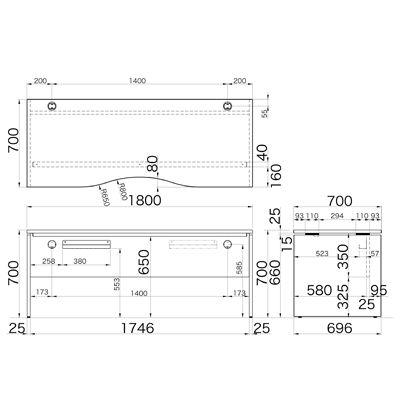 Garage(ガラージ) AFシリーズ ラウンド天板デスク 幅1800mm 奥行き700mm 白 1台 (直送品)