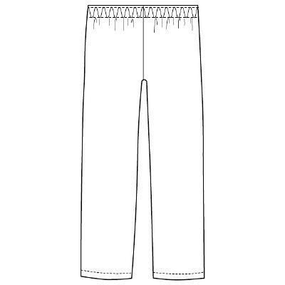 フォーク スクラブパンツ カラーパンツ(男女兼用) 6003SC-7 ネイビー 3L (取寄品)