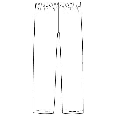 フォーク スクラブパンツ カラーパンツ(男女兼用) 6003SC-17 ダークネイビーLL
