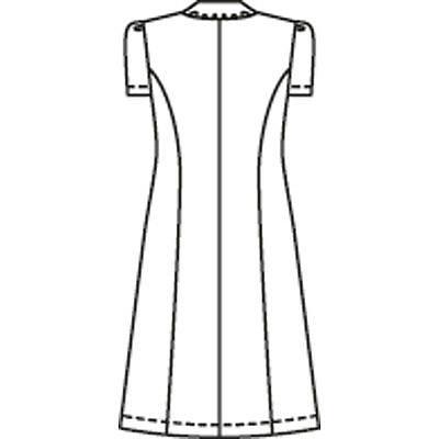 ナガイレーベン ワンピース 半袖 ホワイト L CF-4807 (取寄品)