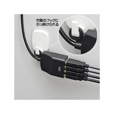 サンワサプライ 延長用4ポートUSB2.0ハブ(ブラック) USB-HEX415BK (取寄品)