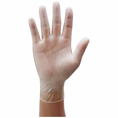 プラスチック手袋 パウダーフリー L VC-200 1箱(100枚入) (使い捨て手袋)