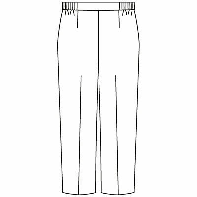 KAZEN レディススラックス 医療白衣 ホワイト L 194-70 (直送品)