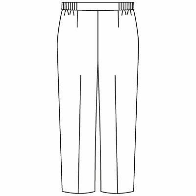 KAZEN レディススラックス 医療白衣 ホワイト LL 194-70 (直送品)