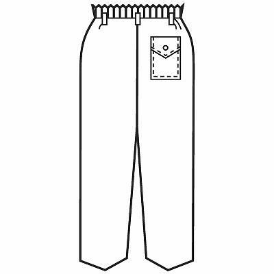 KAZEN メンズスラックス 医療白衣 ホワイト L 257-70 (直送品)