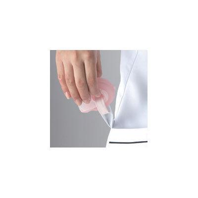フォーク チュニック 2015EW-7 ホワイト×ネイビー LL ナースジャケット (取寄品)